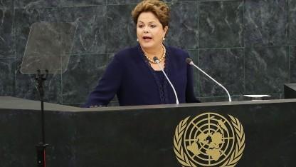 Brasiliens Präsidentin Rousseff kritisiert die US-Ausspähpraxis scharf.