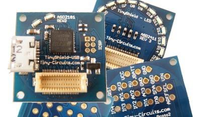 Das Tinyduino ist in etwa so groß wie eine SD-Karte und mit dem Arduino kompatibel.