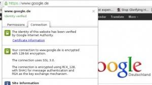 Verbindung mit Google nach Downgrade-Attacke