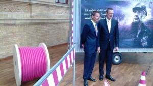 Telekom-Chef Rene Obermann und Niek Jan van Damme
