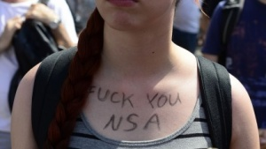 Proteste gegen NSA-Überwachung am 27. Juli 2013 in Berlin