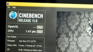 Cinebench R11.5 auf Bay Trail