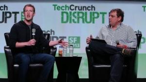 Zuckerberg auf dem Techcrunch Disrupt
