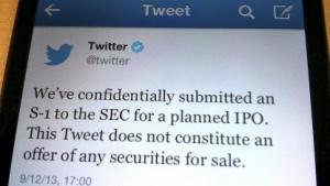 Der Tweet zum IPO