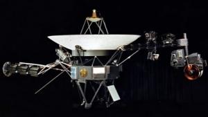 Ein Modell der Raumsonde Voyager 1