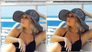 Links XPress 9, rechts Version 10 ohne Pixelvorschau