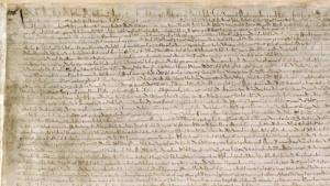 Ein Original der Magna Carta von 1215