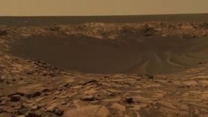 Marskrater Beagle (Aufnahme vom Rover Opportunity): Abhänge zu steil für Rover