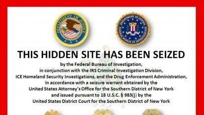 Nur noch eine Sperrseite vom FBI ist auf der Silk Road-Webseite zu sehen