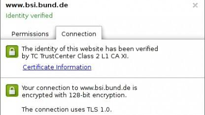 Nur TLS 1.0 beim BSI