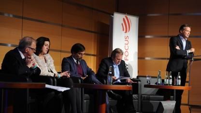 Die Podiumsdiskusssion mit Google und Burda