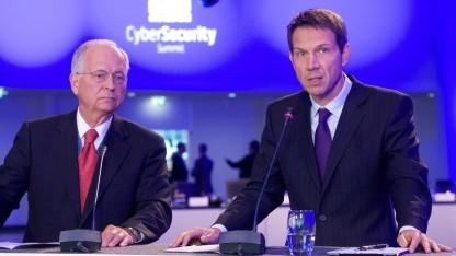 Botschafter Wolfgang Ischinger und Telekom-Chef René Obermann