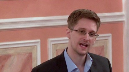 Edward Snowden am 9. Oktober 2013