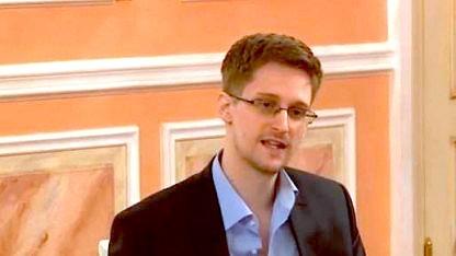 Edward Snowden auf einer Preisverleihung in Moskau