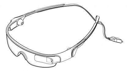 Samsung hat den Entwurf einer Datenbrille zum Patent angemeldet.