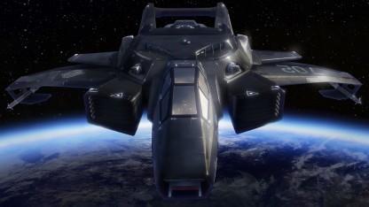 Screenshot Hornet aus Star Citizen