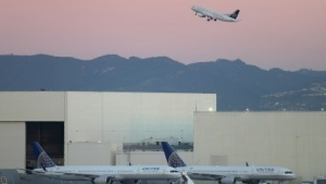 Boeing 787 auf dem Los Angeles International Airport