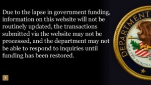 Website des US-Justizministeriums