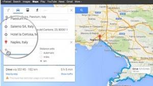 Routenberechnung in Google Maps wieder mit Zwischenstationen
