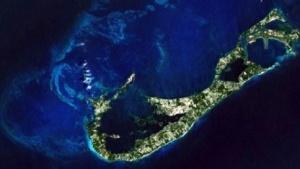 Bermuda: Satellitenaufnahme von Nasa und World Imagery