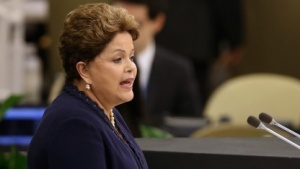 Präsidentin Dilma Rousseff (am 24. September 2013 vor der US-Vollversammlung): Privatsphäre und die Unverletzlichkeit der amtlichen Kommunikation