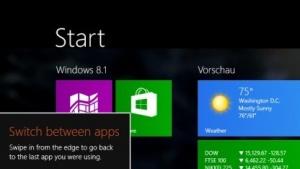Windows 8.1 steht als Update bereit.