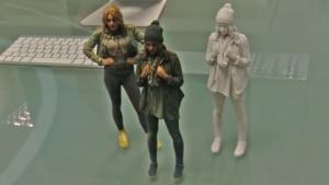 Selbstporträt per 3D-Druck: weiß, farbig oder mit bronzeartigem Überzug