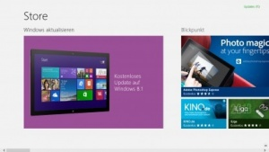 Der Windows Store bietet das Update an.
