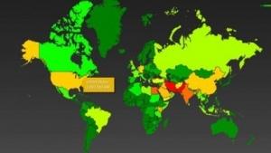 Das Data-Mining-Tool Boundless Informant zeigt die weltweiten Überwachungsaktivitäten der NSA an.