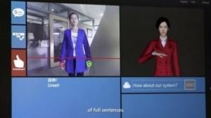 Kinect Sign Language Translator: Avatar stellt Gebärden dar.