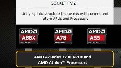 Der A88X und der A78 sind die neuen FHCs für den Sockel FM2+.