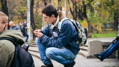 Ingress-Spieler in Kiew