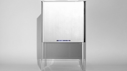 3D-Drucker Buccaneer: Plexiglas, gebürstetes Aluminium, keine Bedienelemente