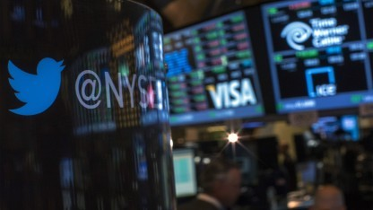 Twitter startet an der New York Stock Exchange.