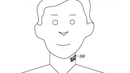Motorolas Halsmikrofon: sichtbares Tattoo seitlich am Hals