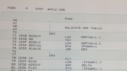 Quellcode des Apple DOS von Paul Laughton