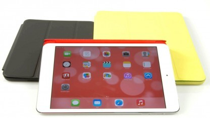 iPad Mini (schwarz), iPad Mini mit Retina-Display (rot), iPad Air (gold)
