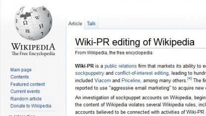 Zweifelhafte Eigen-PR: Der Streit über das bezahlte Editing hat schon einen eigenen Wikipedia-Artikel.