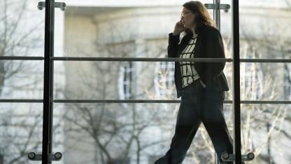 Auch ihre Daten werden künftig wieder gespeichert: SPD-Generalsekretärin Andrea Nahles bei den Verhandlungen im Willy-Brandt-Haus.