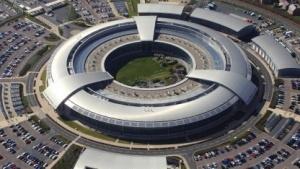 Das Hauptquartier des GCHQ in Cheltenham, Großbritannien