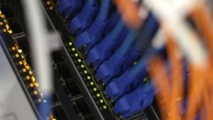 Router im Datenzentrum von Kabel Deutschland in Frankfurt am Main
