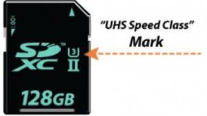 SD-Karten mit UHS-3 speichern mit 30 MByte/s.