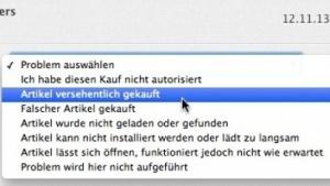 Reklamationsgründe für Käufe in iTunes