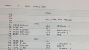 Quellcode des Apple DOS von Paul Laughton