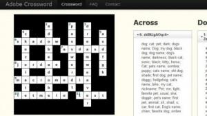 Passwörter zum Selberraten: ein Kreuzworträtsel mit gehackten Adobe-Daten