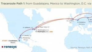 Umleitung von amerikanischen Daten nach Weissrussland