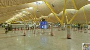 Mit Street View auf dem Flughafen von Madrid