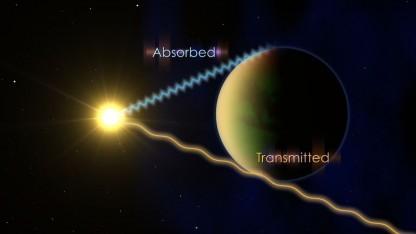 Transit eines Exoplaneten: Hinweise auf Wasser im Infrarotspektrum