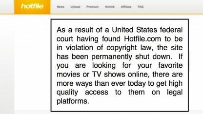 Die Homepage von Hotfile
