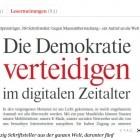 """Digitale Menschenrechte: """"Überwachung ist Diebstahl"""""""